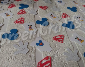SuperMickey Confetti. Mickey Mouse. Superman. Baby Shower. SuperMickey.