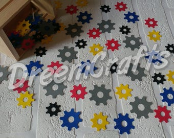 Transformers Confetti. Gears confetti. Transformers themed party. Transformers birthday. 200 pieces!