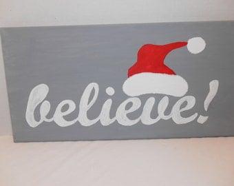 Santa Believe Canvas Painting