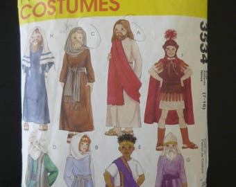 Mccall's 3534,pattern,boys and girls passion play costume,Jesus,Mary,Apostle,high priest,Pharisse,Pilate, Soldier,Robe,sash,vest