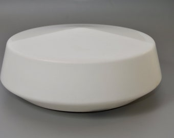 Minimalist midcentury flushmount from Rudolf Zimmermann Bamberg GmbH, Bauhaus, Wagenfeld era
