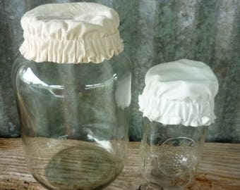 "Fermentation cap/3"" to 4.5""  fermenting cover/muslin jar cap/brewing hat"