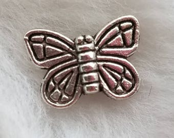 Pewter Butterfly Beads - Pack of 15