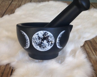 Moon Phase Mortar and Pestle