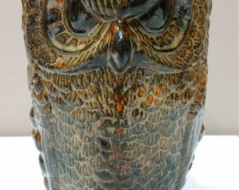 Colorful Owl Pitcher (Stoneware)