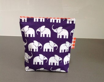 Reusable sandwich bag/elephant