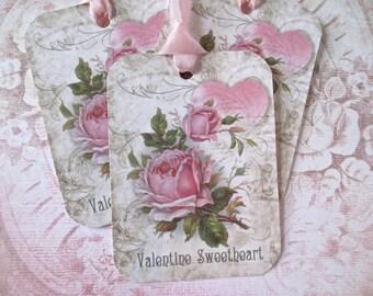 Valentine Tags-Valentine Sweetheart-Set of 6