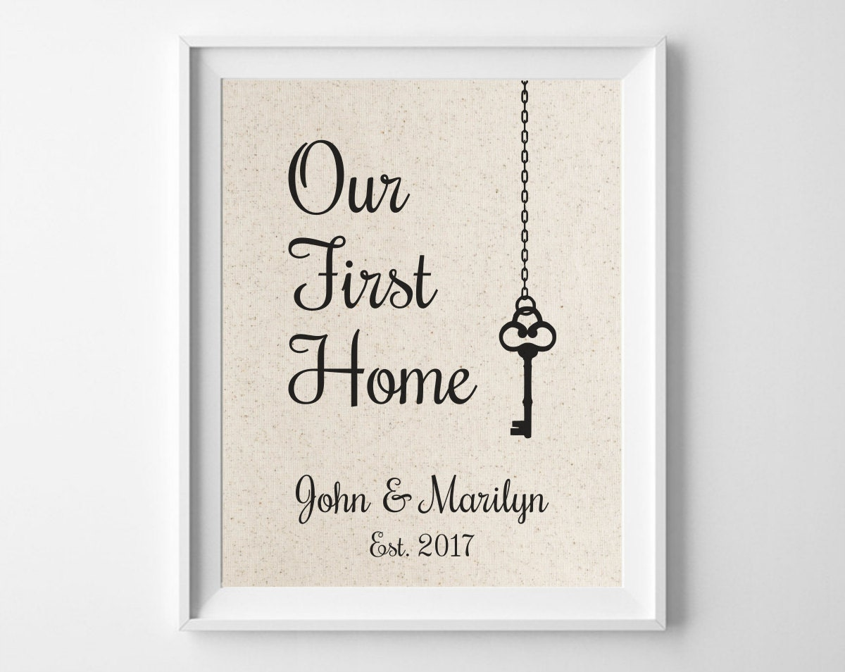 Our First Home Housewarming Gift For Couple Key House