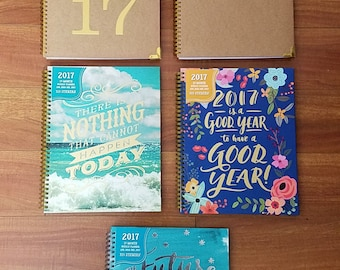 SALE! Free Shipping! Inspirational, Quote, 2017 15 Month Planner, Journal, Notebook, Organizer. Perfect for School, work, etc.