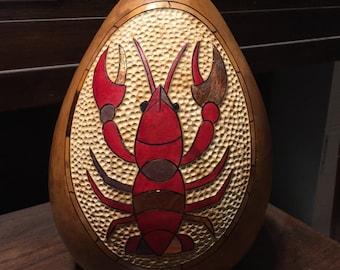Gourd art crawdad/lobster design