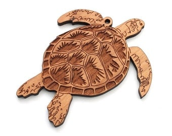 Loggerhead Sea Turtle Christmas Ornament - Sea Creature Collection from Nestled Pines