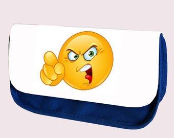 Emoji ANGRY Pencil Case / Clutch or Make up Bag