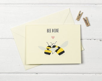 Bee mine greetings card