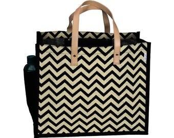 BUDAE Jute/Hessian eco friendly Reusable Shopping Grocery Tote Bag