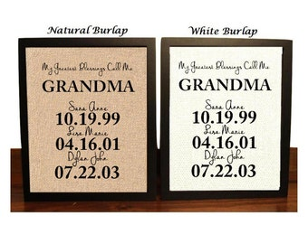 Christmas Gift for Grandma, Personalized Gift for Grandma, Mothers day gift, My Greatest Blessings Call Me Grandma, Family Date Sign