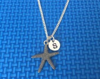Star Fish necklace ,Jewelry, Silver Jewelry, star fish jewelry, Ocean Necklace, Ocean Chain CP9
