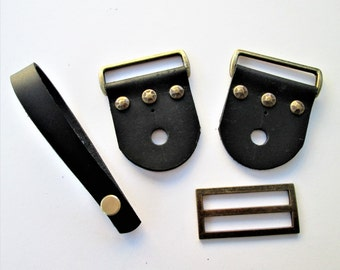 New! Guitar or Banjo Strap Kit with Antiqued Bronze Rivets, and Hardware