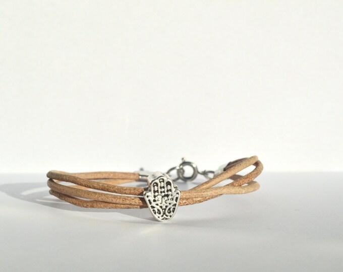 Handmade leather yoga bracelet, leather wrap bracelet, handmade yoga jewellery, simple leather bracelet, brown bracelet, MichaelaCraft
