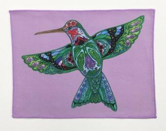 Microfiber Cloth Wipes Hummingbird Animal Spirits by Sue Coccia Native American Art Microfiber for Glasses, Computer Screens, Ipad, & Phones