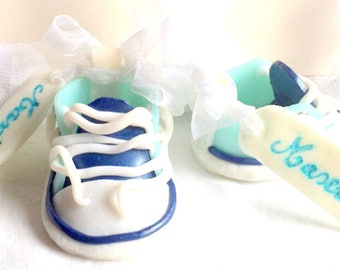 Container-godmother/converse/fimo/mini/shoe/custom/handmade/glitter/baptism/Godfather sweets / / basketball/baby shower table decoration