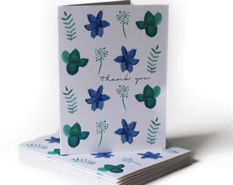 Spring Flowers Thank You Greeting Card