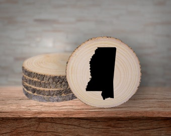 Rustic Mississippi Coaster Set