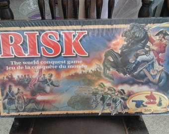 Highly collectable 1993  RISK game with 360 coloured miniature  game pieces in original plastic/shrink wrap