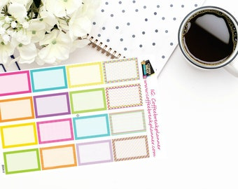 Planner Stickers  Decorative Half Box Stickers for your Planner or Journal B004-V