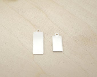 Sterling Silver Tag Blank - Sterling Silver Rectangle - Rectangle Blank - Sterling Silver Stamping Blanks
