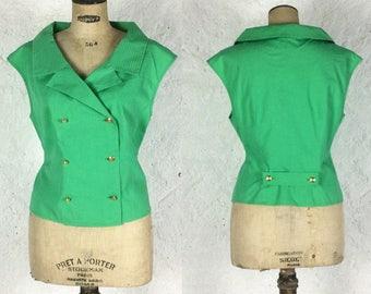Very Flattering Dior 1980s Cotton Sleeveless shirt small - medium