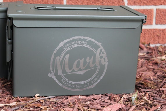 Special Wedding Gift For Brother : Gift for men, Brother christmas gift, personalized ammo can, ammo box ...
