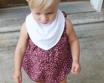 Baby Bandana Bib Pure White