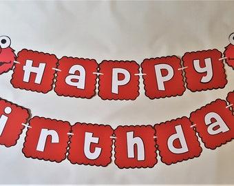 Elmo Banner - Elmo Birthday Party -  Elmo Decorations- Elmo Party - Elmo - Elmo Party Decor - Elmo Birthday Banner