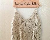Boho Tank Crochet PATTERN...
