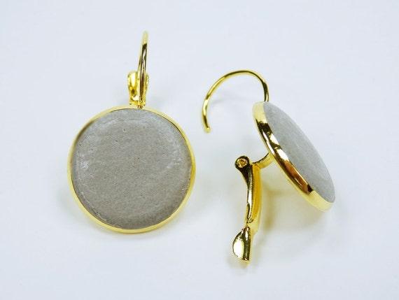 Earrings concrete jewelry on gold earrings closed unique pair of earrings concrete jewelry Grey Gold