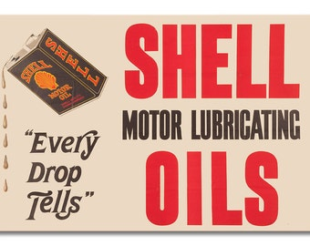 Shell Black Can Oil