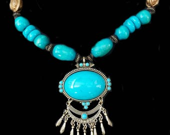 "Ethnic necklace"" Inca"" inspiration"