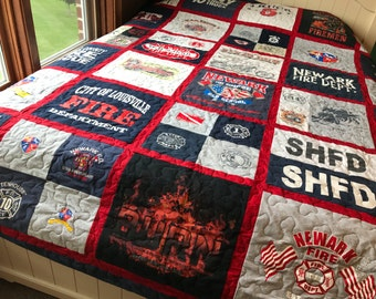 Custom made TShirt quilt/single sided made from your Shirts (deposit)