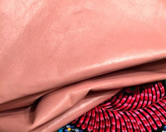 "Pink Leather / Pale Pink Leather / Light Pink Leather / Pastel Pink Leather / Pastel Leather / 12.5"" x 12.5"""