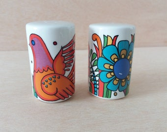Villeroy and Boch Acapulco pattern salt and pepper shakers | Mid Century Modern