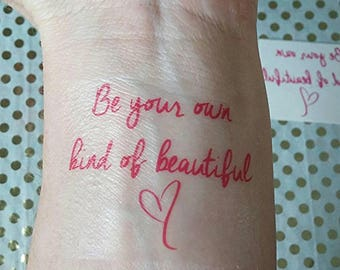 Temporary Tattoos, Inspirational Quote, Be You, Fake Tattoos, Fake Ink, Temporary Ink
