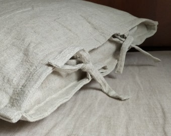 Organic HEMP Pillowcase/Hemp + Linen unique organic pillow cases with micro-massage, peeling skin /Hemp pillow cover/  Eco friendly