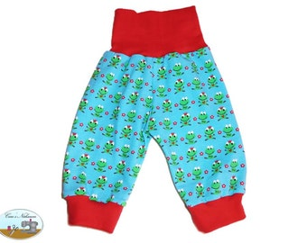 Baby bloomers turquoise red frogs frog 50-56