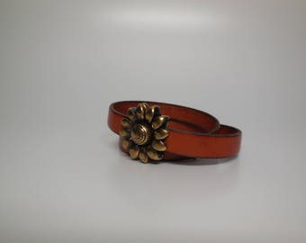 Distressed Leather Double wrapped bracelet