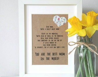 New Mom Gift/ Gifts For Mom/ Mom Birthday Gift/ Mom Gift/ Mom Frame/ Personalised Mom Gift/ Wife Gift/ Mom Gift