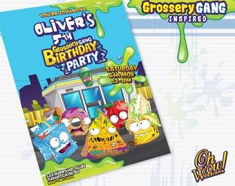 Grossery Gang: Theme Birthday Invitation