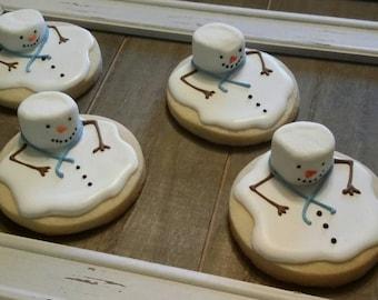 Christmas Melting Snowman