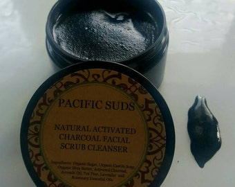 Activated Charcoal Facial Scrub Cleanser
