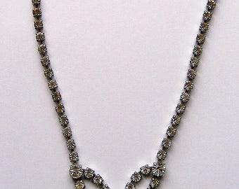 1950S SPARKLING DIAMANTE necklace