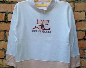 Rare!!! Courreges Sweatshirt Pullover Ladies L Size Rare